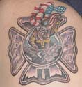 A tattoo from Keith Pruett with the Rock Hill Fire Department in South Carolina
