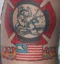 This is Nick William's tattoo. He is a fireman/paramedic with the San Miguel Fire Dept in San Diego County.